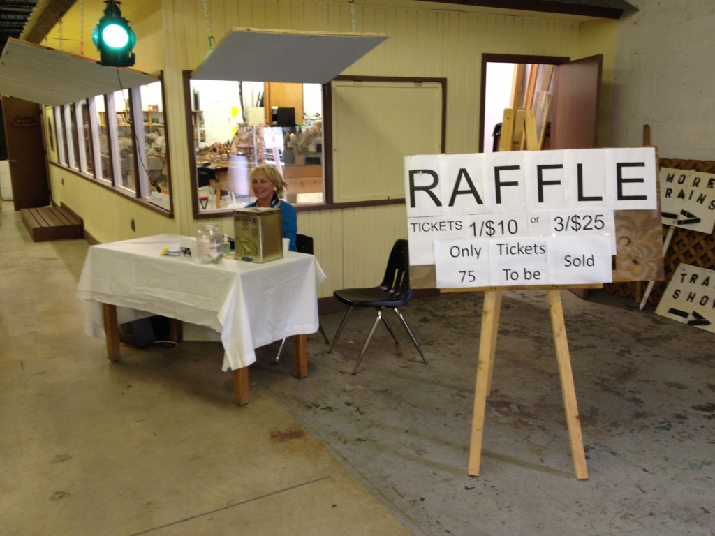 Colleen's raffle table LG